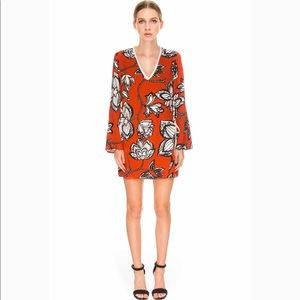 Finders Keepers Fly Away Floral Dress - US4